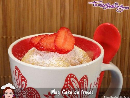 Mug Cake de Fresa - Todo Cooking