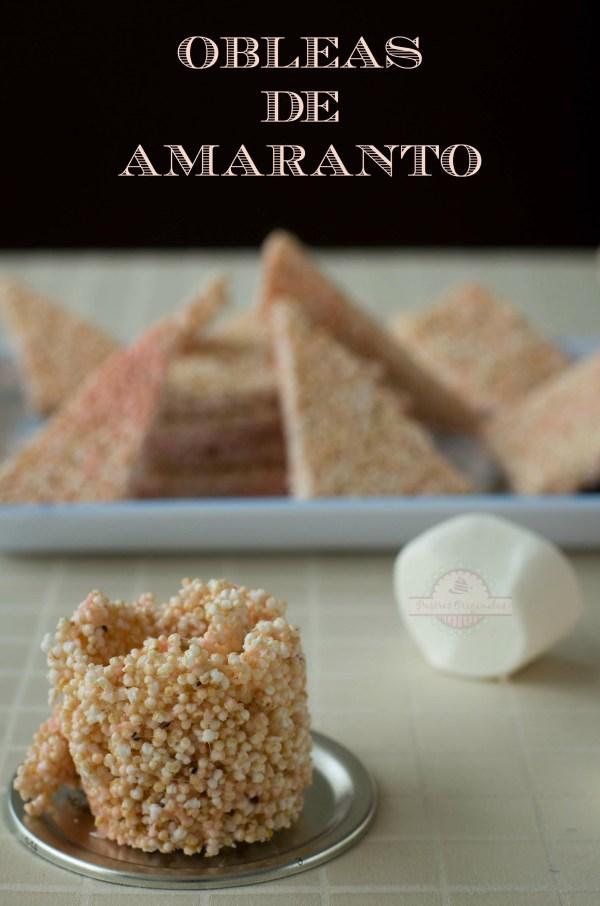 Obleas de Amaranto - Texto