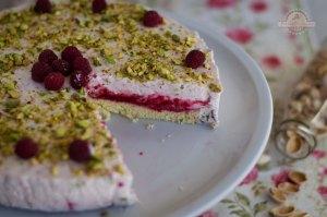 Cheesecake de Pistachos y Frambuesas