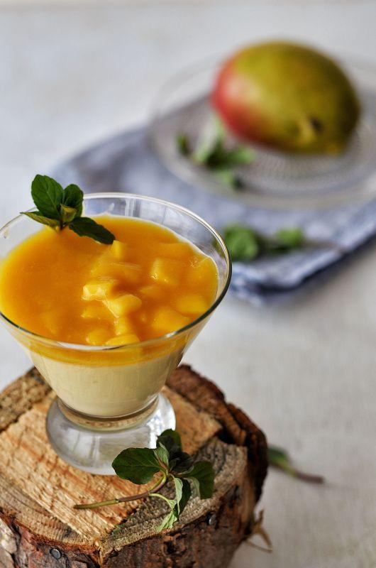 panacota de mango o panna cotta de mango