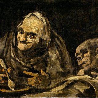 Dos viejos comiendo sopa - Goya