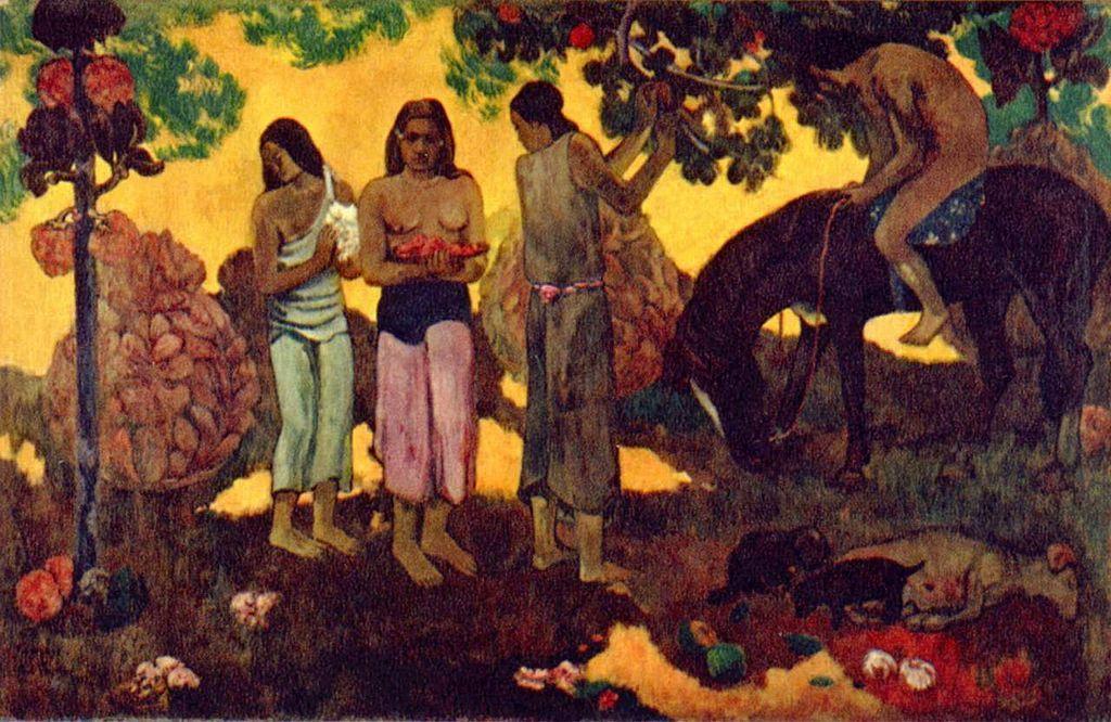 Recolección de frutas – Paul Gauguin