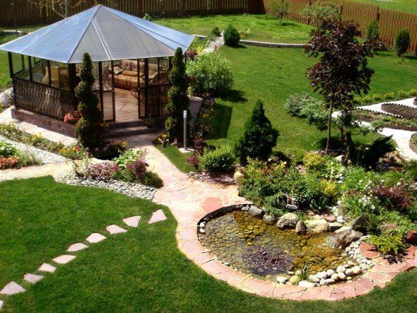 Оригинальное оформление сада: реальные фото