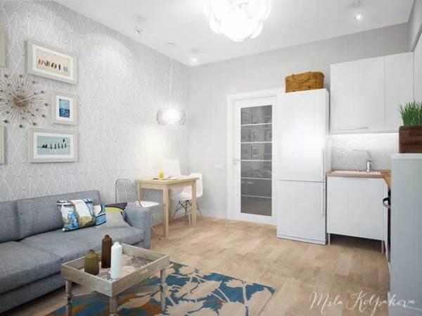 Дизайн интерьера маленькой 2 комнатной квартиры с ...