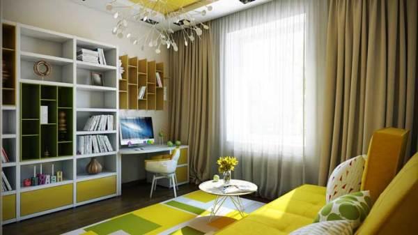 Дизайн интерьера маленькой детской комнаты для подростка ...