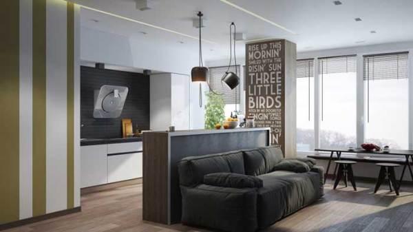 Дизайн однокомнатной квартиры студии 30, 40 кв. м. для ...