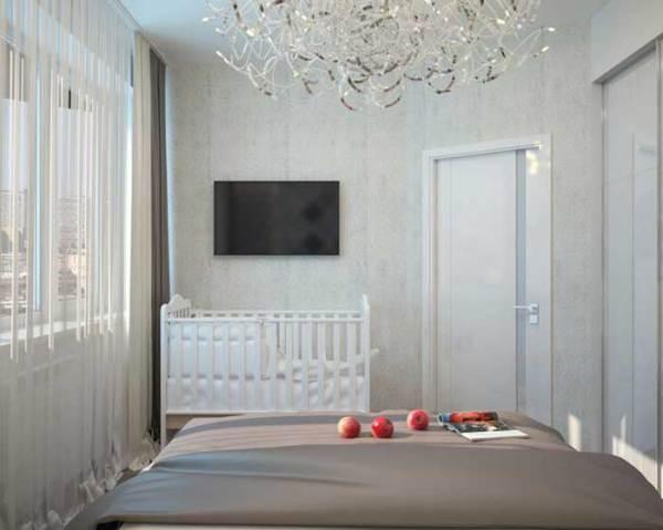 4 идеи дизайна спальни 12 кв м со шкафом купе Фото