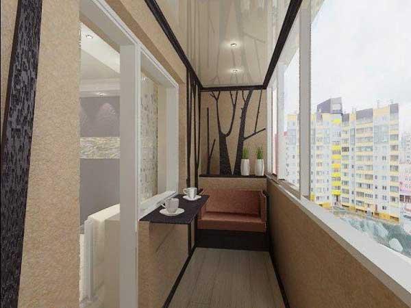 Отделка балкона внутреняя. Чем отделать стены балкона ...