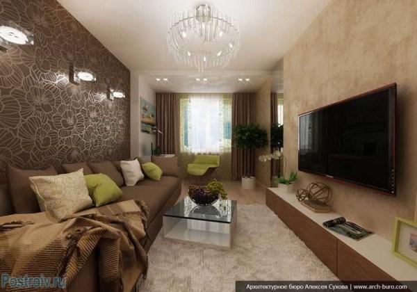 Дизайн интерьера зала 18 кв. м. Фото 8 вариантов оформления