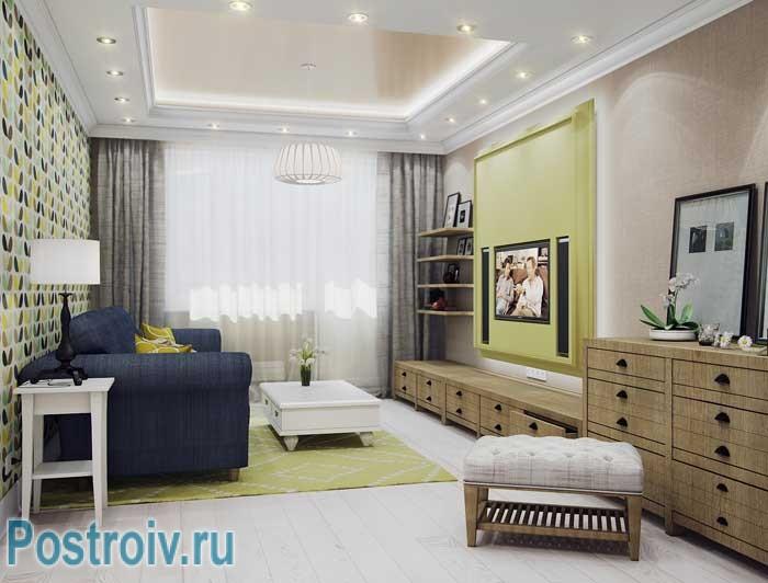 дизайн комнаты 18 квм в однокомнатной квартире фото 7