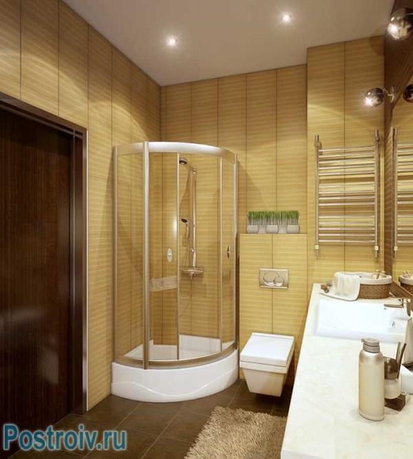 Дизайн ванной с душевой кабиной - фото. Маленькая ванная ...