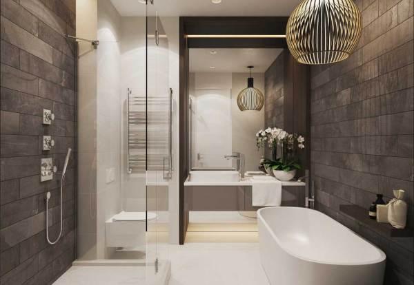 Дизайн ванной 6 кв м фото с туалетом с без. Подборка ...
