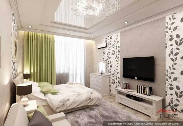 Дизайн комнаты 17 кв.м. Спальня в классическом стиле и ...