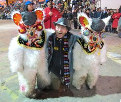 A little the worse for wear at the amazing Carnival de Oruro, Bolivia