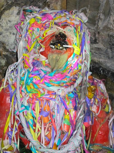Underground statue of the devil, to which miners offer gifts before they begin work, Potosí, Bolivia