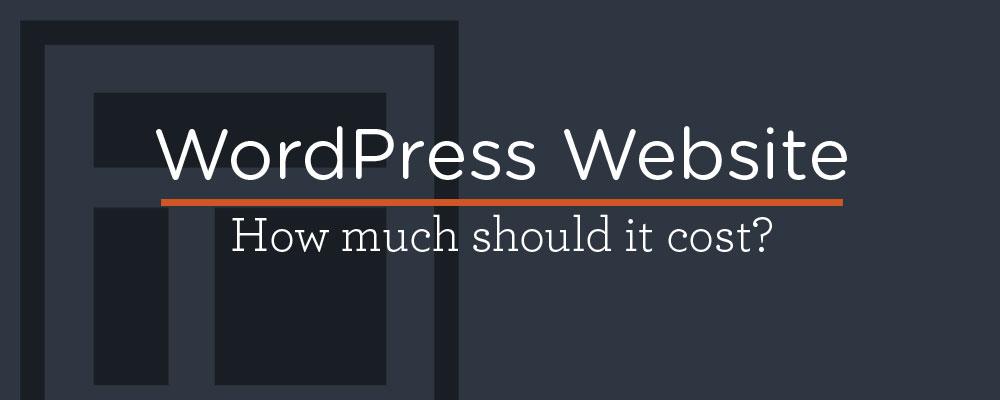 The cost of a custom WordPress website