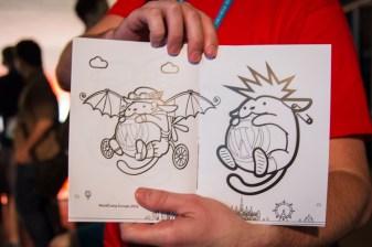 Wapuu coloring book