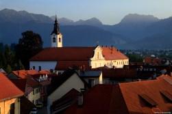 Franciscan monastery from Mali Grad / Widok na klasztor franciszkański z Małego Zamku (Mali Grad)