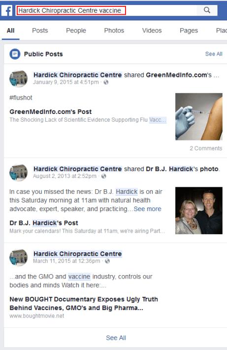 Hardick Chiropractic Centre Vaccines