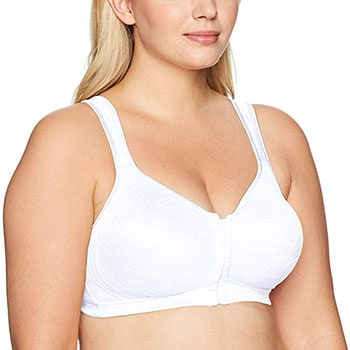 Playtex Women's Front Close Wirefree Back Support Posture Full Coverage Bra