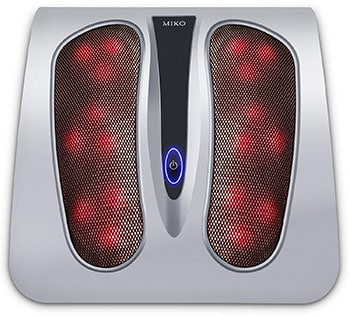 Miko Foot Massager Machine with Heat, Great for Plantar Fasciitis