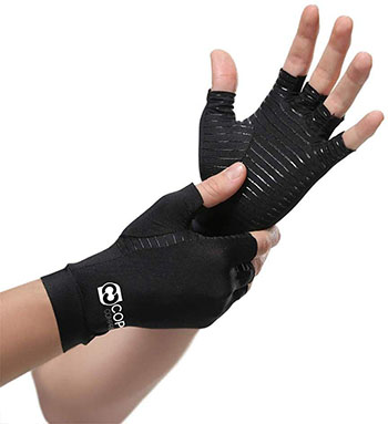 Copper Compression Arthritis Gloves Carpal Tunnel Support for Hands