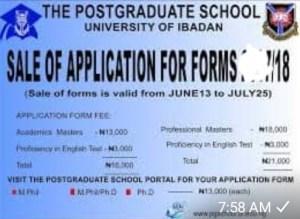 University of Ibadan postgraduate program