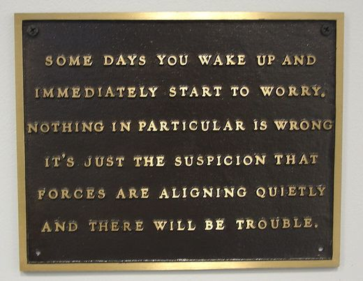 Everyone worries - photo courtesy of Son of Groucho