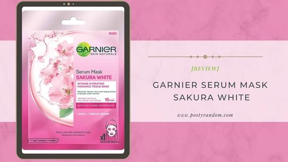 garnier serum mask sakura