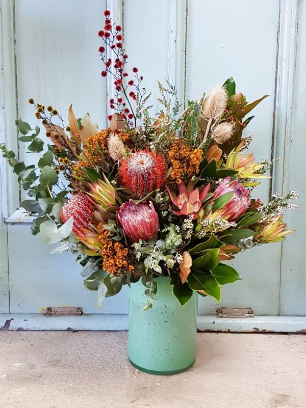 Native flowers in vase Posy & Twine Florist