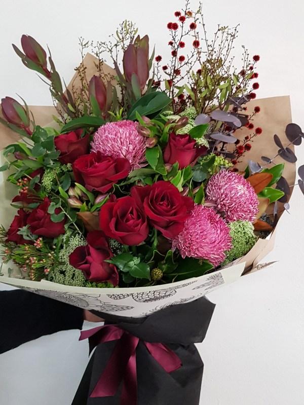 Romantic red flowers Posy & Twine