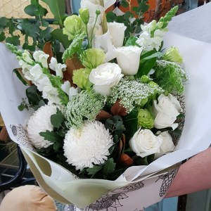 White and green gift bouquet Posy & Twine Florist
