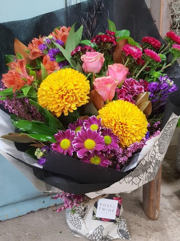 Bright seasonal bouquet flowers Posy & Twine Florist