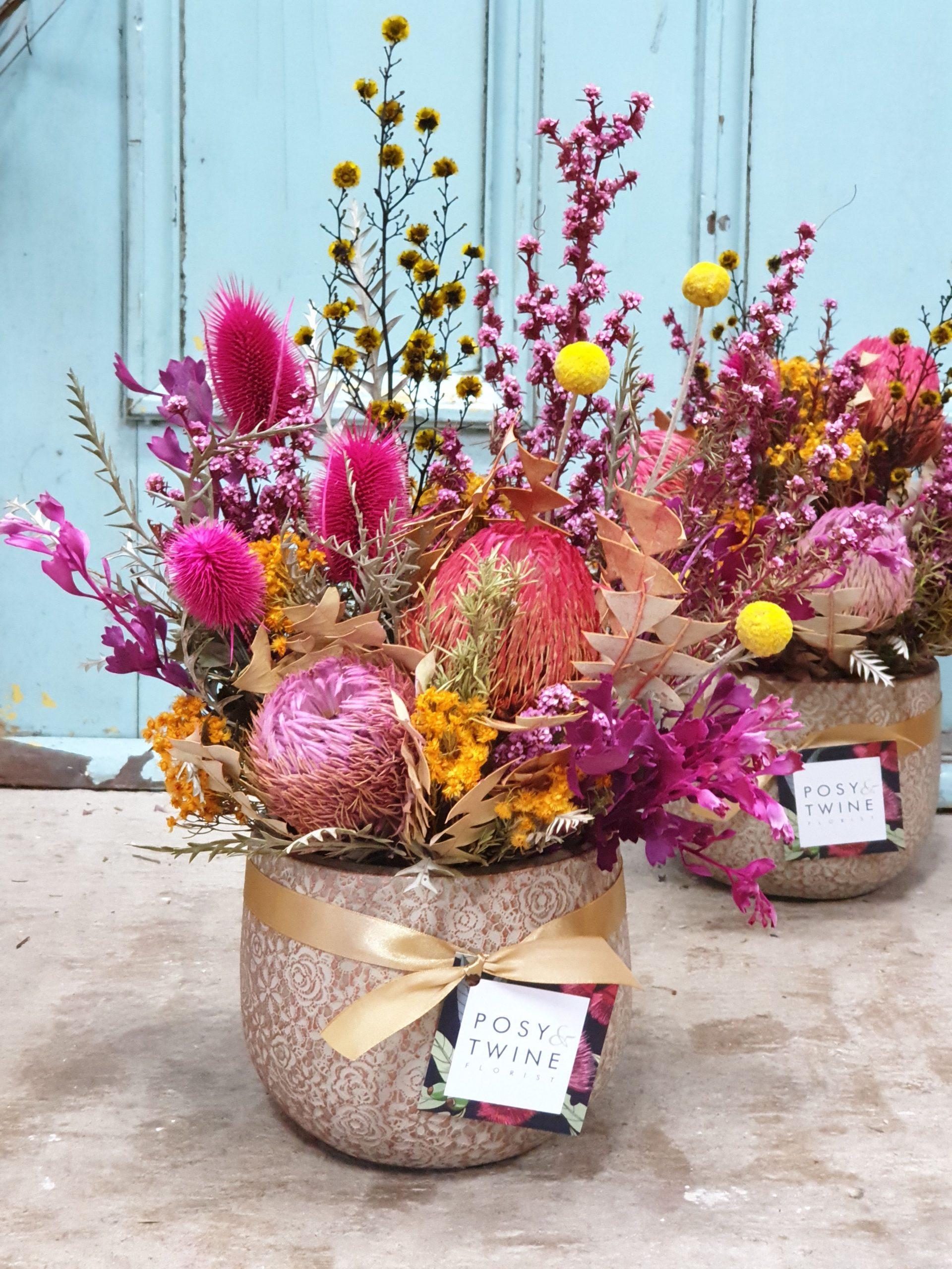 Happy Days Dried Flowers Posy Twine Florist Telopea Nsw 2117
