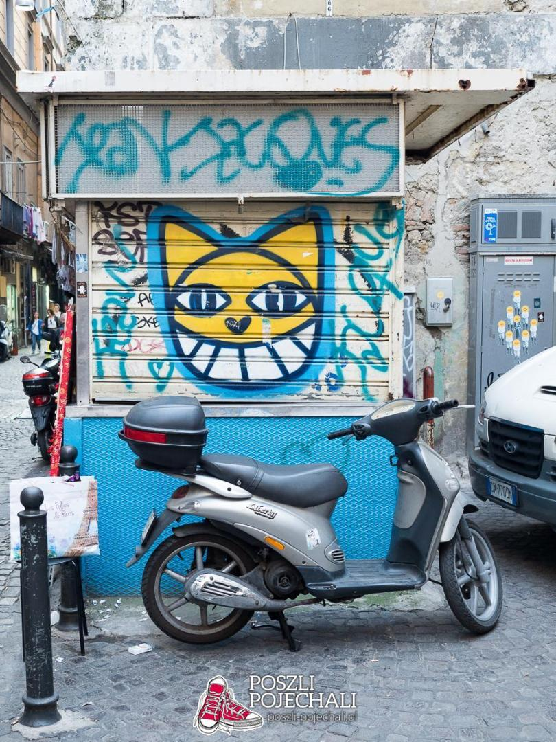 Street art w Neapolu - Mr. Chat