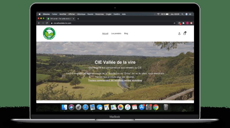 Création de site pour le CIE Vallée de la vire par Pot Global Numérique