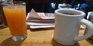 Cafe Americano and Grapefuit Juice @ Green Eggs Cafe Philadelphia, Pennsylvania