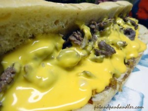 Cheese Steak with Cheez Whiz