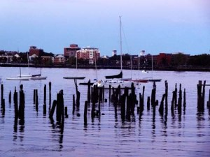 Boston's harbor walk