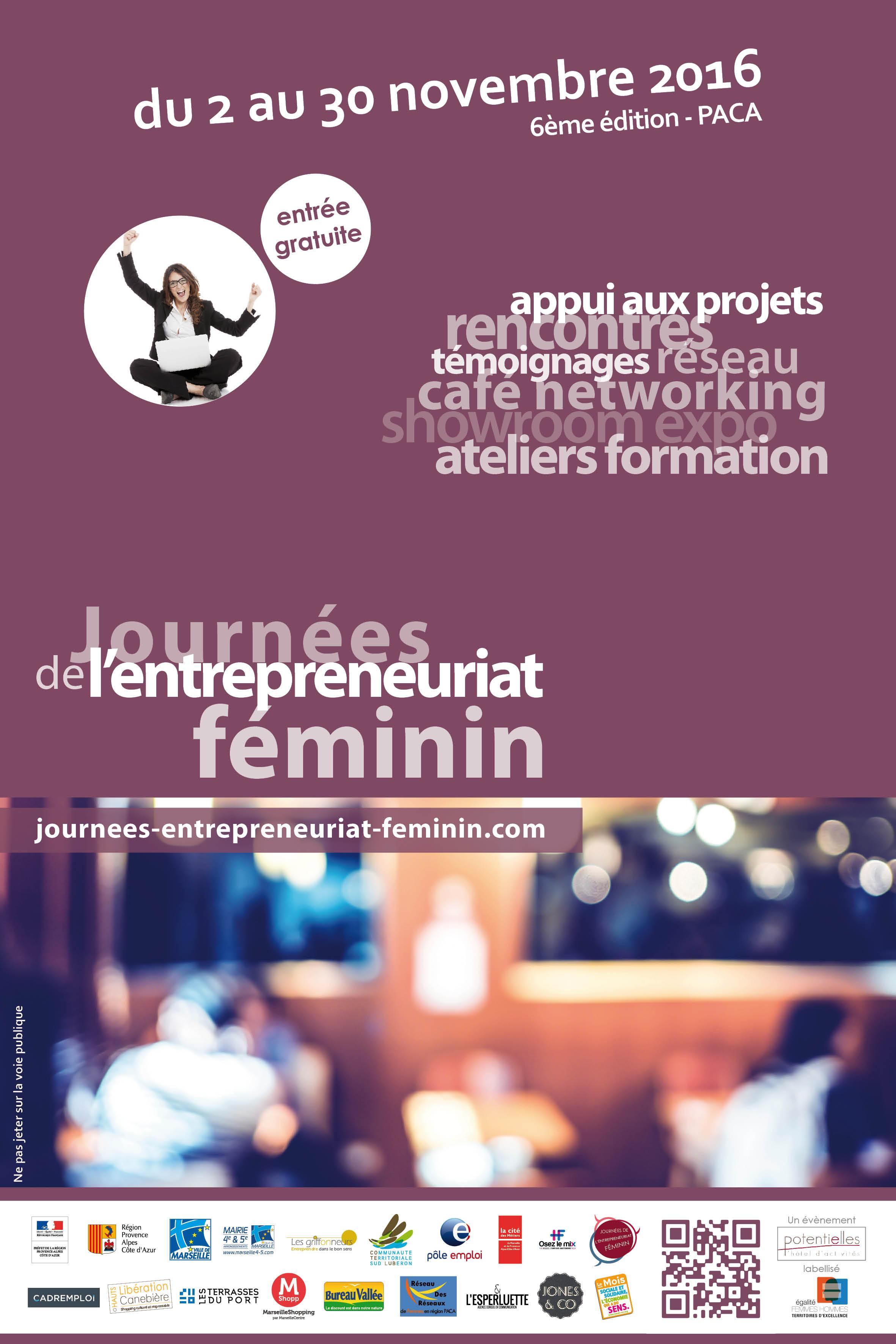 Affiche Journées de l'Entrepreneuriat Féminin 2016