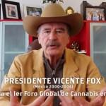 El expresidente de México Vicente Fox, anuncia el 1º Foro Global de Cannabis en México