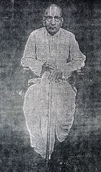 Black and white image of M. Raghava Iyengar from Wikipedia