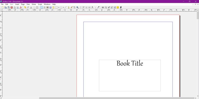 screengrab of layout with scribus