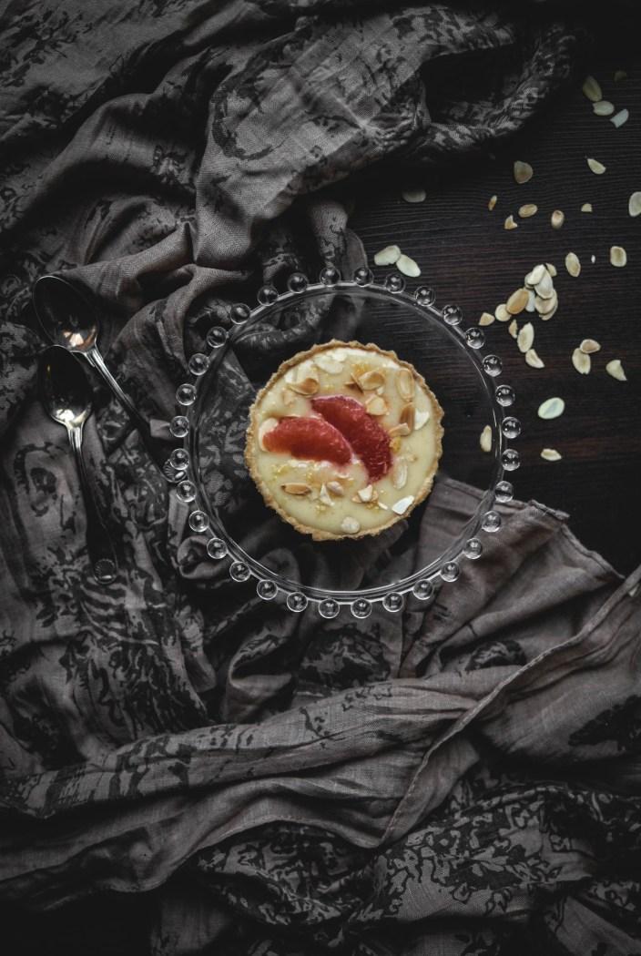 Tartelette au pamplemousse