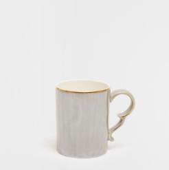 Mug en porcelaine grise métalisée