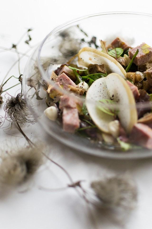 Salade gourmande mousse de poire