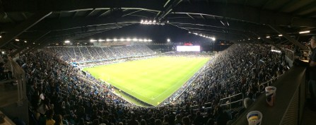 My first Major League Soccer match @ San Jose vs Seattle! True to soccer spirit, it was a tie, 1-1