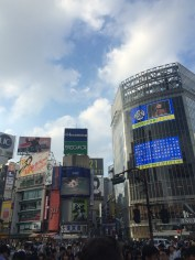 The famous Shibuya crosswalk at daytime