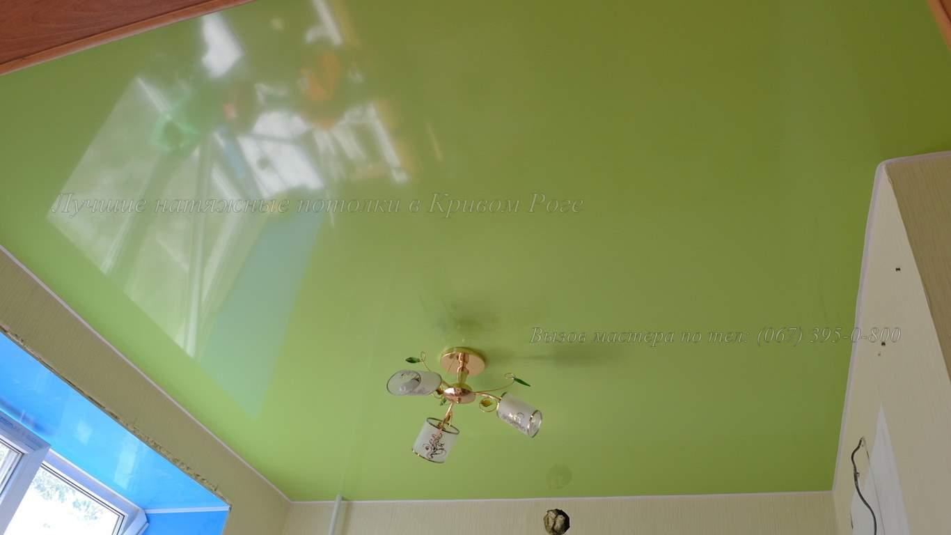Зеленый натяжной потолок кривой рог