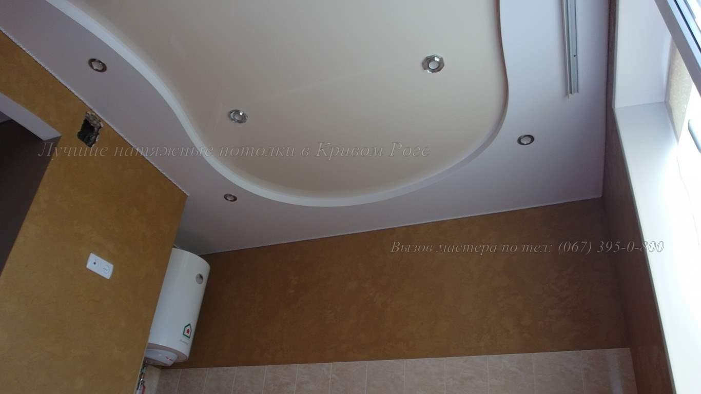 Гипсокартонный короб для натяжного потолка кривой рог